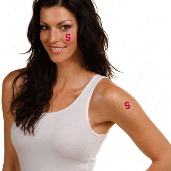 Stanford Cardinal 4-pack Temporary Tattoos