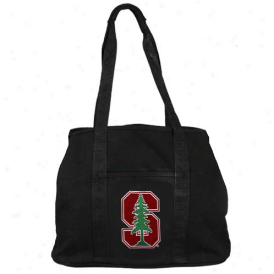 Stanford Cardinal Bkack Domestic Tote Bag