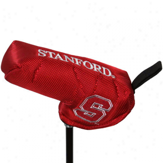 Stanford Cardinal Cardinal Nylon Axis Gripper Blade Putter Cover