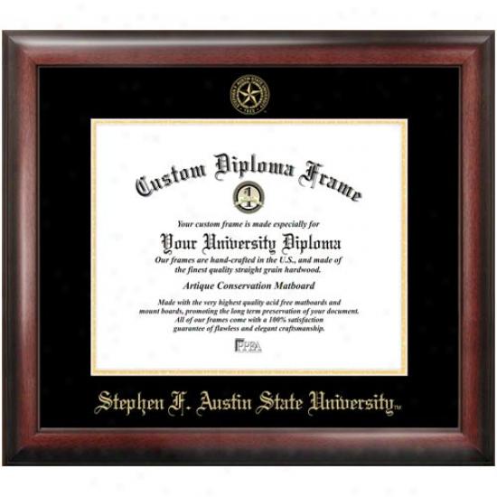 Stephen F. Austin Lumberjacks Satin Mahogany Embossed Seal Diploma Frame