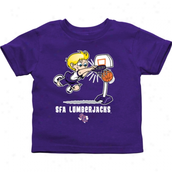 Stephen F Austin Lumberjacks Toddler Boys Basketball T-shirt - Purple
