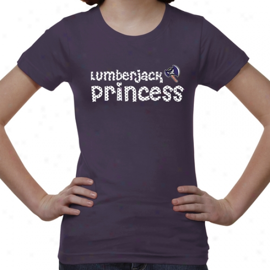 Stephen F Austin Lumberjacks Young men Princess T-shirt - Purple