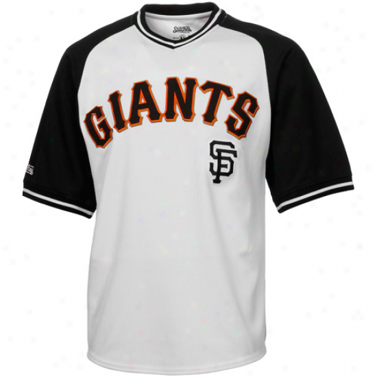 Stitches San Francisco Giants Ensnare Pullover V-neck Jersey - Pure