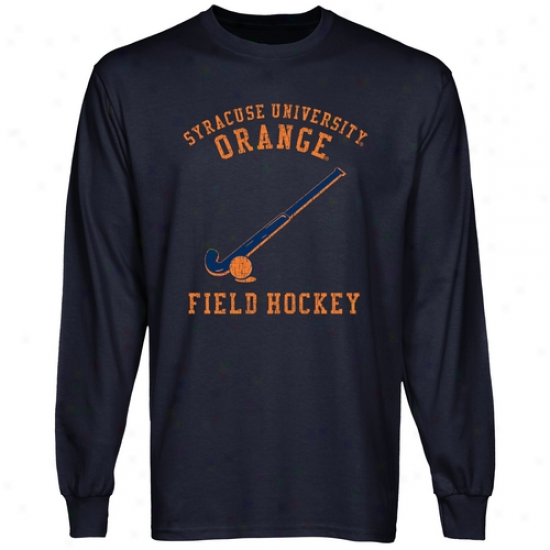 Syracuse Orange Club Ling Sleeve T-shirt - Navy Blue