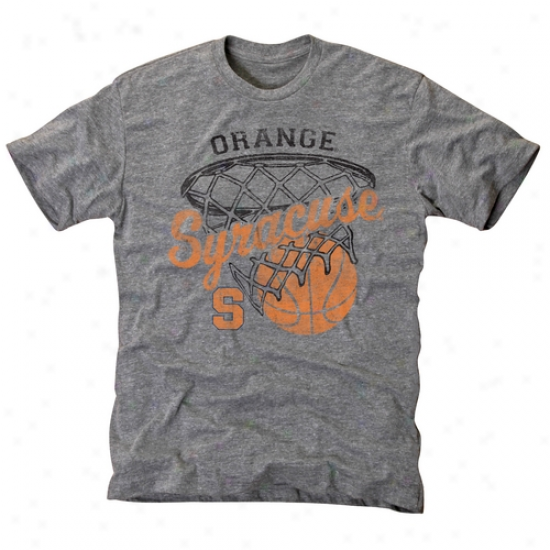 Syracuse Orange Hoop Tri-blend T-shirt - Ash