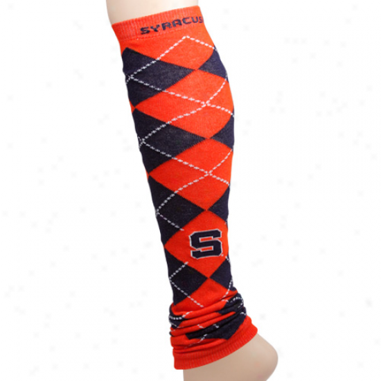 Syracuse Orange Ladies Navy Blue-orange Arghle Leg Warmers
