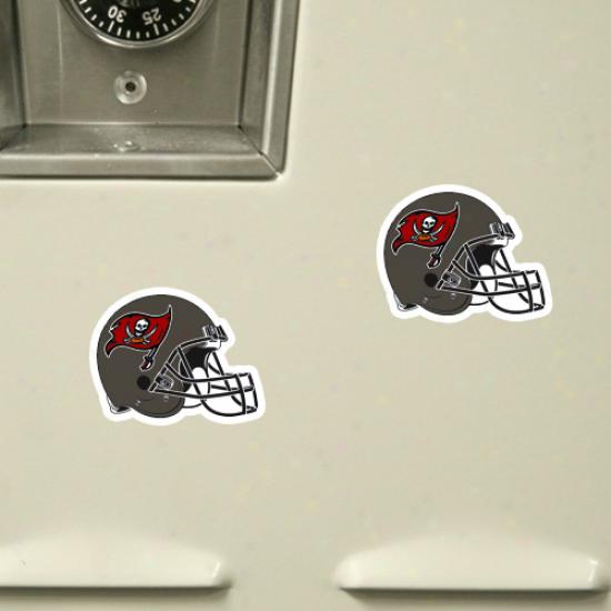 Tampa Bay Buccaneers 6-pack Football Helmet Magnet Sheet