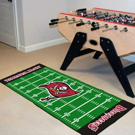 Tampa Bay Buccaneers Football Field Messenger Mat