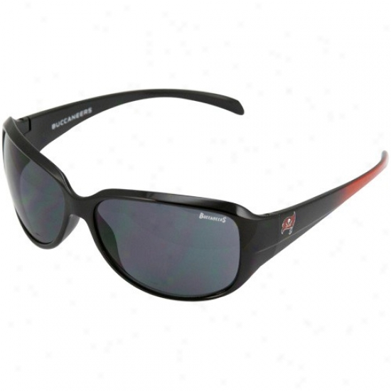 Tampa Bay Buccaneers Ladies Black-red Fade Velocity Sunglasses