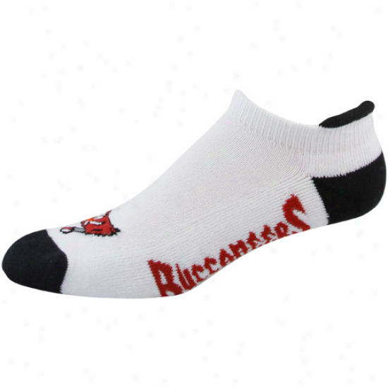 Tampa Bwy Buccaneers Ladies White-black Runners Ankle Socks