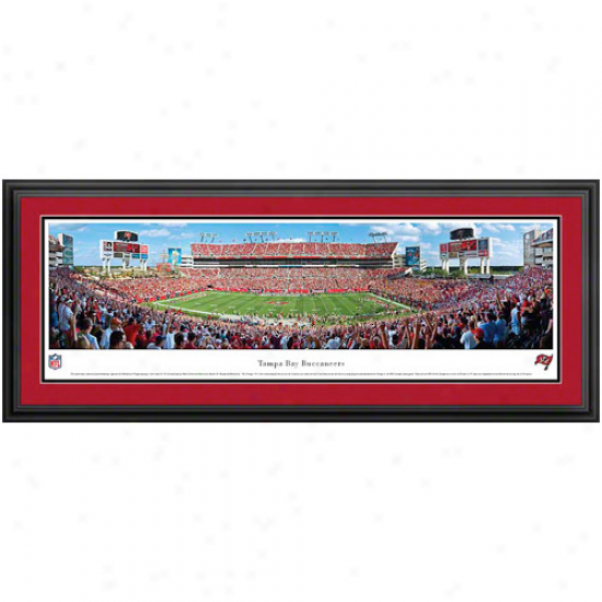 Tampa Bay Buccaneers Raymond James Stadium Deluxe Framed Panoramic Print