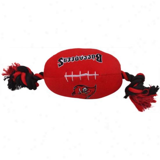 Tampa Bay Buccaneers Red-black Plush Football Pet Toy