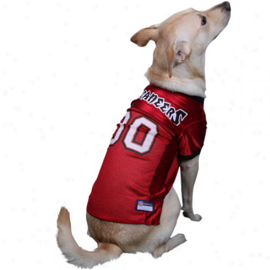 Tampa Bay Buccaneers Red Mesh Fondling Football Jersey