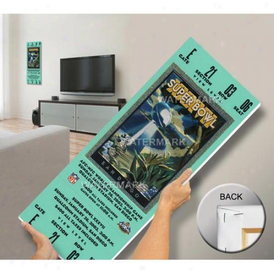 Tampa Bay Buccaneers Super Bowl Xxxvii Mega Ticket