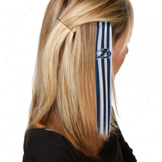 Tampa Bay Lightning Royal Blue-white Sports Extension Hair Clips