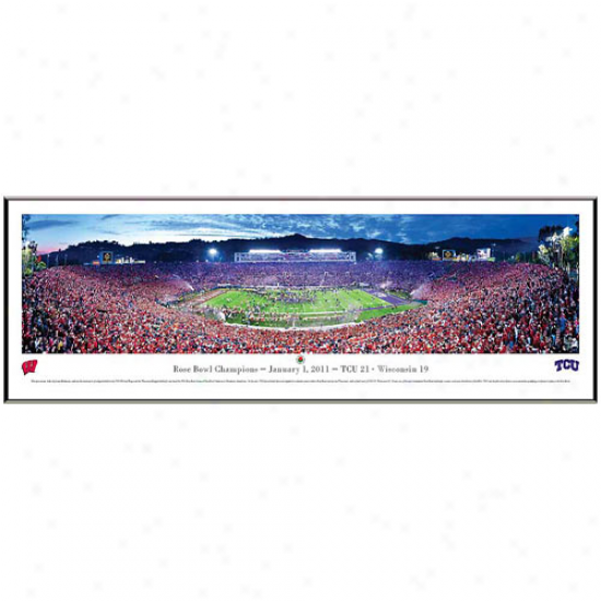 Tcu Horned Frogs 2011 Rose Bowl Champions Framed Panorama