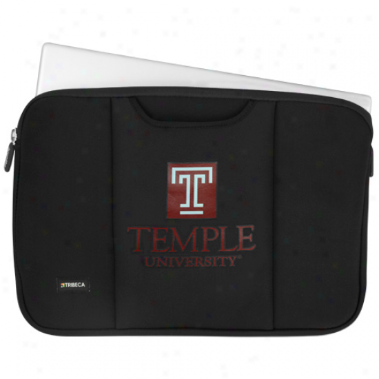 Temple Owls Black 15'' Laptop Breathe Sleeve