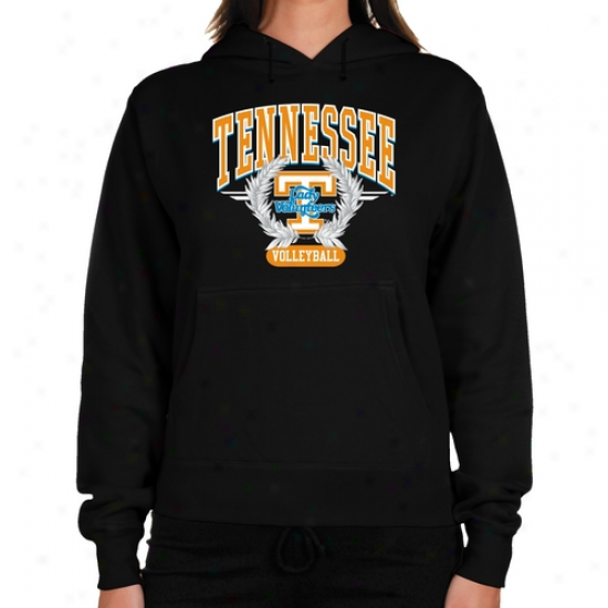 Tsnnessee Lady Vols Ladies Black Laurells Volleyball Lightweight Hoody