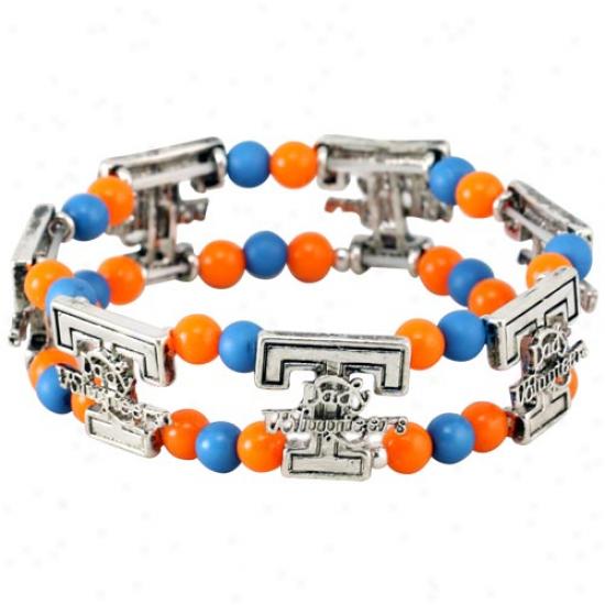 Tennessee Lady Vols Ladies Logo Double Beaded Bracelet