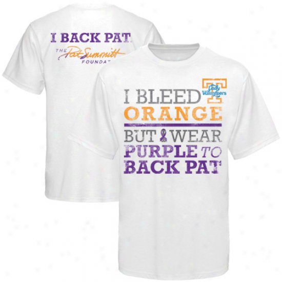 Tennessee Lady Volunteers We Back Pat T-shirt - White