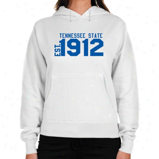 Tennessee State Tigers Ladies White Est. Date Lightweight Hoody