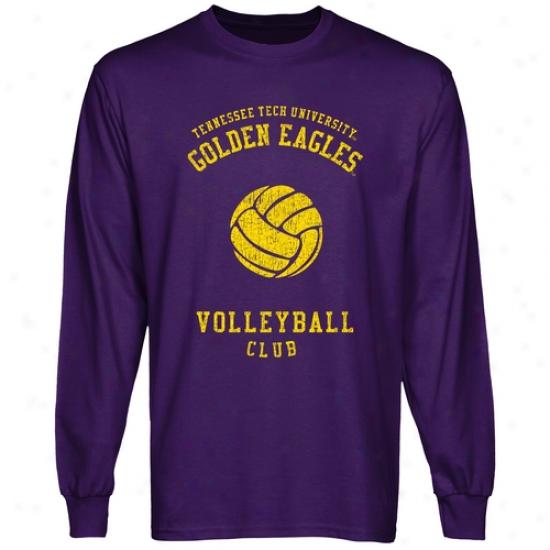Tennessee Tech Golden Eagles Club Long Sleeve T-shirt - Purple