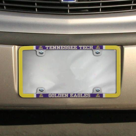 Tennessee Tech Golden Eagles Thin Rim Varsity License Plate Frame
