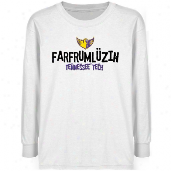 Tennessee Tech Golden Eagles Youth White Farfrumluzin T-shirt