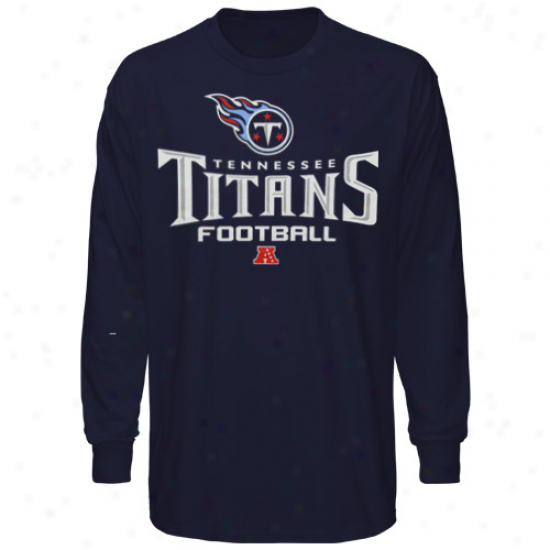 Tennessee Titans Critical Victory V Long Sleeve T-shirt - Navy Blue