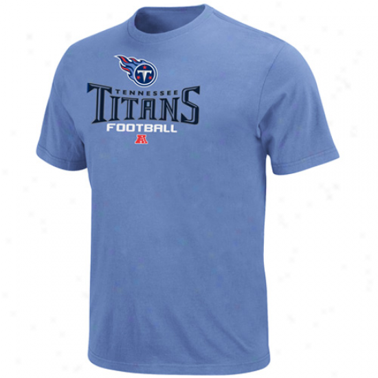 Tennnessee Titans Critical Victory V T-shirt - Light Blue