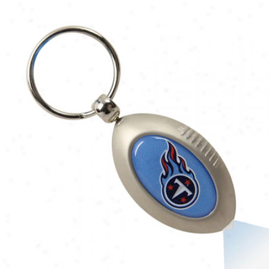 Tennezsee Titans Silver Football Flashlight Keychain