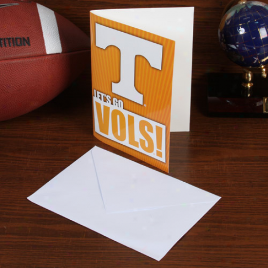 Tennessee Voiunteers 5'' X 7'' Musical Card