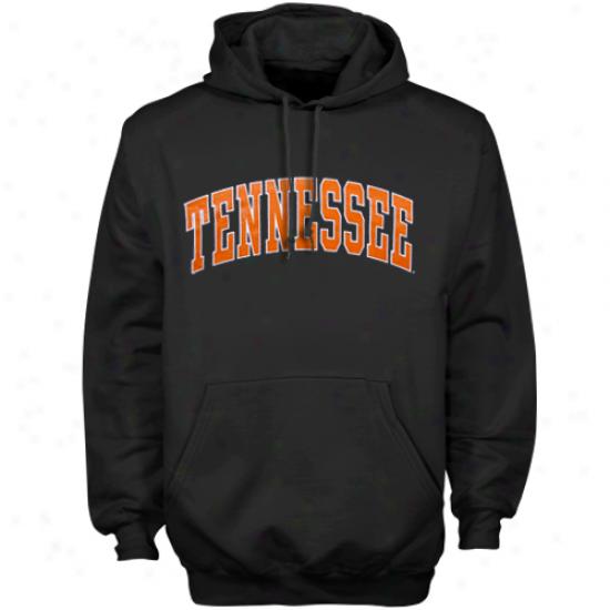 Tennessee Volunteers Black Bold Arch Pullover Hoodie Sweatshirt