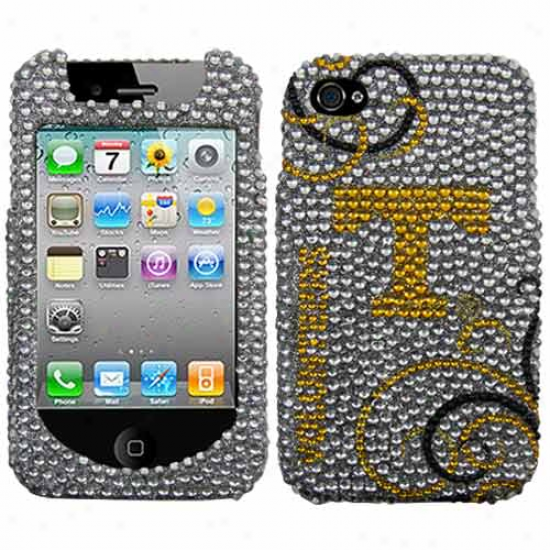 Tennessee Volunteers Blingz Rhinestone Iphone 4 Shell Case
