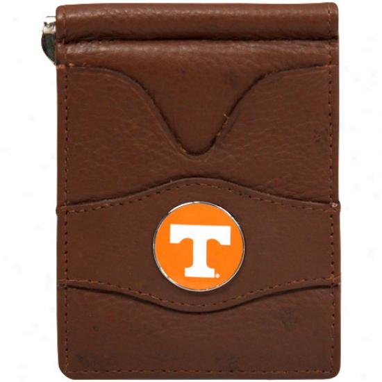Tennessee Volunteers Brown Leather Billfold Wallet