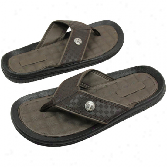 Tennessee Volunteers Brown Weave Flip Flop Sandals