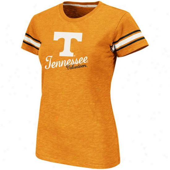 Tennessee Volunteers Ladies Backspin Company Slub T-shirt - Tennessee Orange