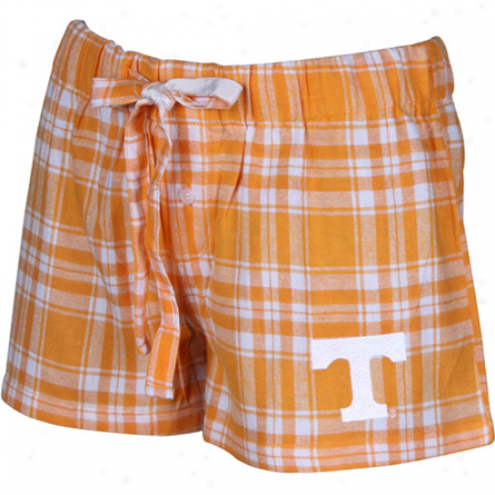 Tennessee Volunteers Ladies Tennexsee Orange Plaid Harmony Pajama Shorts