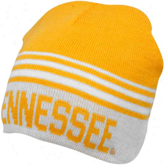 Tennessee Volunteers Tennessee Orang3-white Rush Reversible Beanie