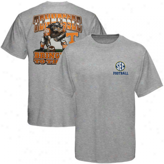 Tennessee Volunteers Three Point Stance T-shirt - Ash