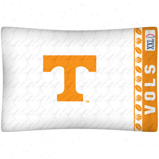 Tennessee Volunteers White Jersey Pillow Case