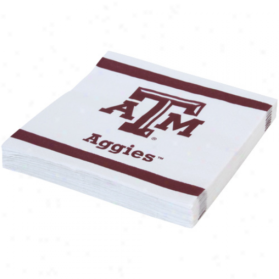 Texas A&m Aggies 20-pack Team Luncheon Napkins