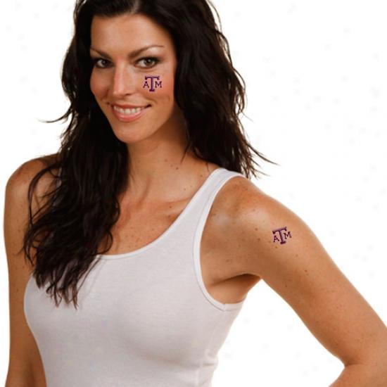Texas A&m Aggies 4-pack Temporary Tattoos