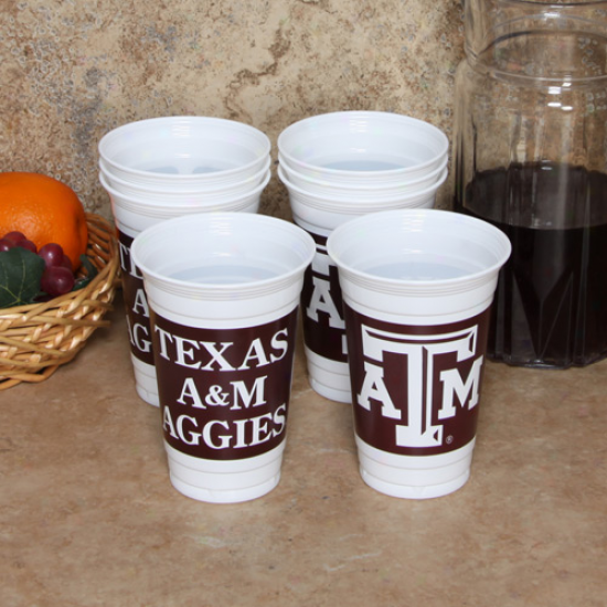 Texas A&m Aggies 8-pack 20oz. Name & Logo Soft Cups