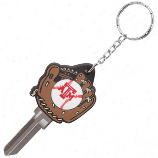 Texas A&m Aggies Baseball Glove Key Blank Keychain
