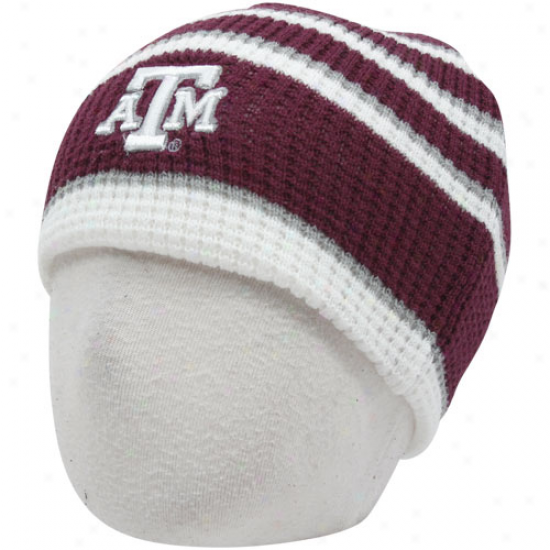 Texas A&m Aggies Infant Maroon-whitr Replay Thermal Beanie