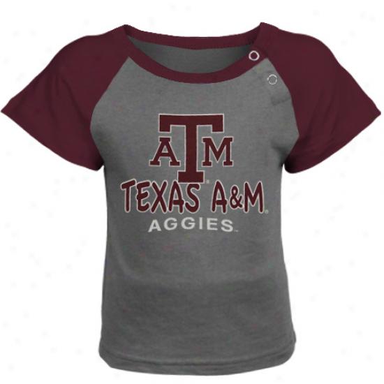 Texas A&m Aggies Infant Titan T-shirt - Gray/maroon
