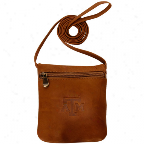 Texas A&m Aggies Ladies Brown Leather Team Logo Over-the-shoulder Bag