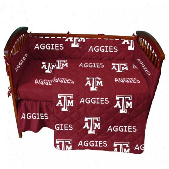 Texas A&m Aggies Maroon Crib Set