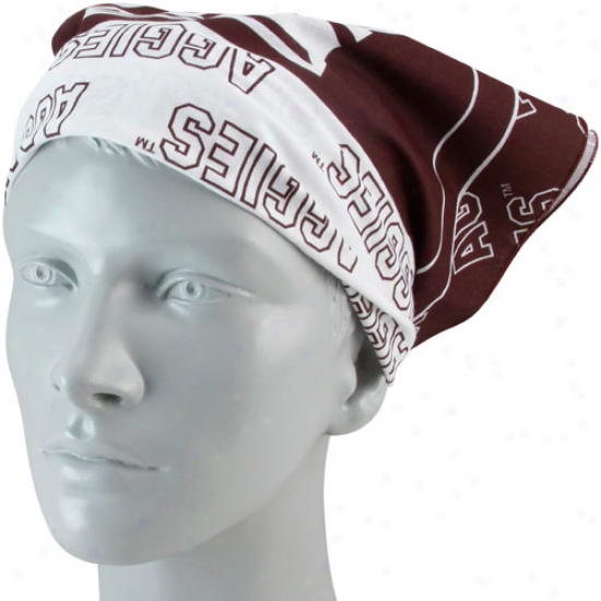 Texas A&m Aggies Maroon Fan Bandana